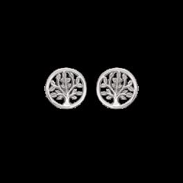 Livets Træ cirkel ørestikker rhodineret sølv 10148565
