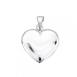 Hjerte i sterling sølv.