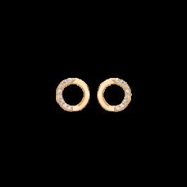 Ørestikker cirkelformet i 14 karat guld