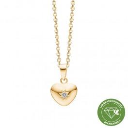Halskæde med 8 karat hjerte vedhæng 1680-KV-RG8-02