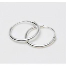 Creoler i rhodineret sølv - 1,2 x 19 mm