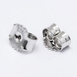 Bagmekanik i rhodineret sterling sølv 5x3 mm