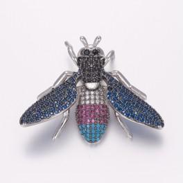 Vedhæng insekt med zirconia stene i forskellige farver.