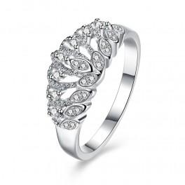 Sølv ring med zirconia
