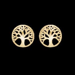 Livets Træ8 kt. guld ørestikker Mål: 10,8 mm. i diameter.
