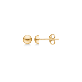 8 kt. guld ørestikker 5 mm halvkugle.