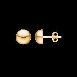 8 kt. guld ørestikker 10 mm halvkugle.