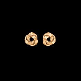 8 kt. guld ørestikke knude af 3 dobbelt ringe