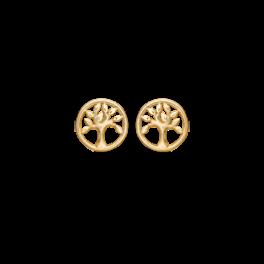 Livets Træ 8 kt. guld ørestikker livets træ.
