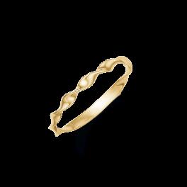 8 kt. Guld ring med snoet tråd