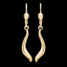 8 kt. guld ørehænger med snogning.