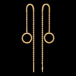 8 kt. guld ørehænger cirkel med kæde. Mål: 7,40 mm. i diameter