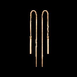 8 kt. guld ørehænger flad stang på veneziakæde. Mål: 17,49 x 1,59 mm.