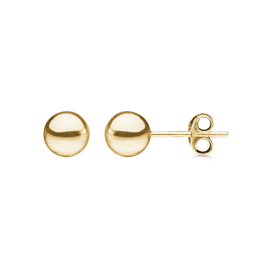 Ørestikker med kugle i 14 karat guld - 7 mm