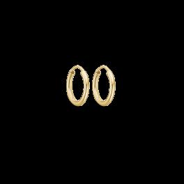 Guld creoler i 14 karat guld.