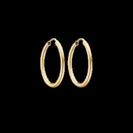 Guld creoler i 14 karat guld 70166525