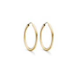 Guld creoler i 8 karat guld.