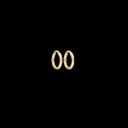 Guld creoler i 14 karat guld 70166810