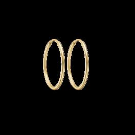 Guld creoler i 14 karat guld 70166825