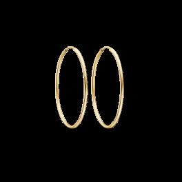 Guld creoler i 8 karat guld 60166830