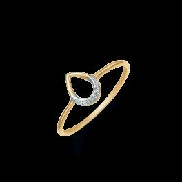 14 kt. guld ring med brillianter Brillant ialt 0,01 ct. w/pk1.  (Dette smykke kan købes som sæt)
