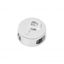 Rhd. Sølv led P rund TIML 8mm