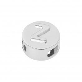 Rhd. Sølv led Z rund TIML 8mm