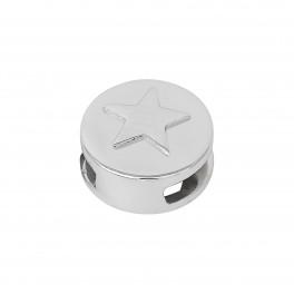 Rhd. Sølv led stjerne rund TIML 8mm
