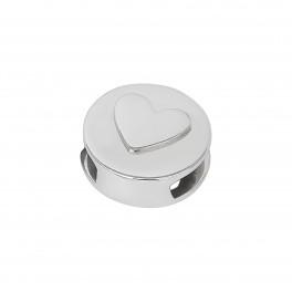 Rhd. Sølv led hjerte rund TIML 8mm