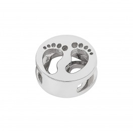Rhd. Sølv baby fødder TIML 8mm