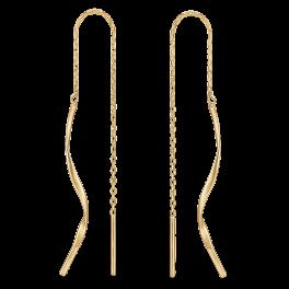 14 kt. guld ørehænger snoet tråd. Mål: 28,28 mm.