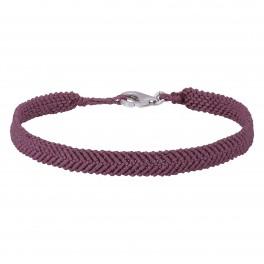 Håndflettet armbånd 16+0,5cm TIML rosa