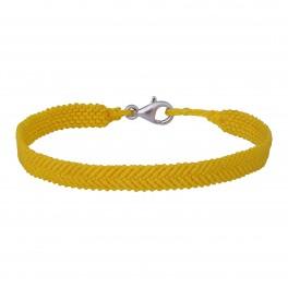 Håndflettet armbånd 18+0,5cm TIML Army gul