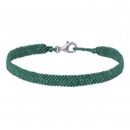 Håndflettet armbånd 16+0,5cm TIML grøn