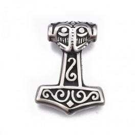 Stål vedhæng - Thors hammer STAS-F158-54AS