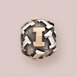 Pandora sølv charm med 14 karat guld 790298I