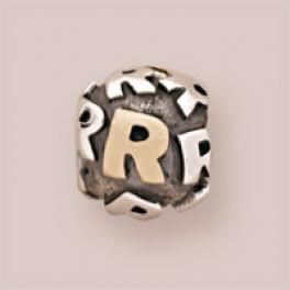 Pandora sølv charm med 14 karat guld790298R