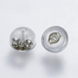 Bagmekanik i sterling sølv med plastik kappe 5,5x4 mm