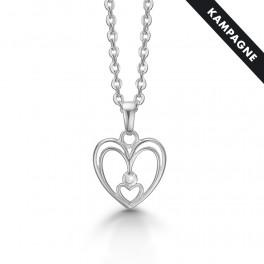 halskæde med 8 karat hjerte vedhæng i hvidguld 88332898-45