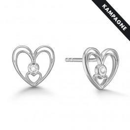 Hjerte øreringe 8 karat guld 88942898-34