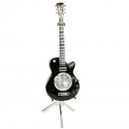 Miniature ur, sort guitar