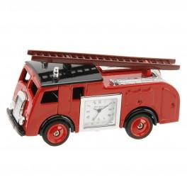 Miniature brandbil med ur