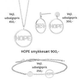 "Land Of Hope ""HOPE"" smykkesæt i sølv fra Nordahl Jewellery og Anja Lovén"