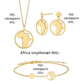"""Land Of Hope """"AFRICA"""" smykkesæt med zirconia sten i forgyldt sølv fra Nordahl Jewellery og Anja Lovén."""
