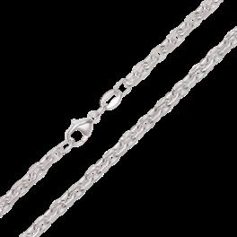 Sølv armbånd anker med facetter.