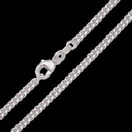 Sølv armbånd, flad panzer 1108018