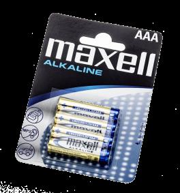 Batterier Maxell Alkaline LR03 / AAA - 4 pk