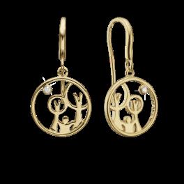 Red Barnet øreringe i forgyldt sølv 1670-KV-RB-G