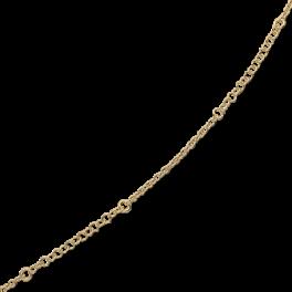 Ankelkæde med kæde med store og små led.