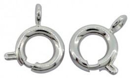 Fjederring i sterling sølv 6 mm